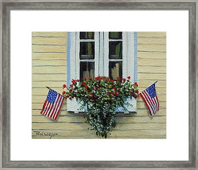 July Flowers Framed Print by Paul Walsh