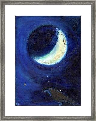 July Moon Framed Print by Nancy Moniz