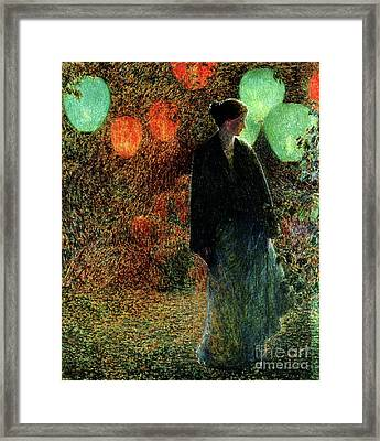 July Night Framed Print by Childe Hassam