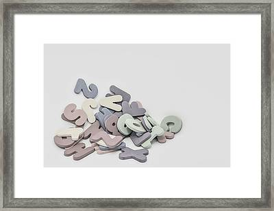 Jumbled Letters Framed Print by Scott Norris
