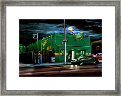 Jumbo's Bar Detroit Framed Print by David Kyte
