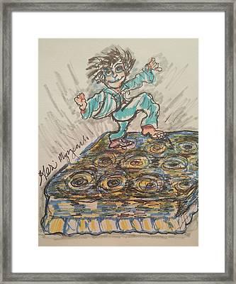 Jumping Around Framed Print by Geraldine Myszenski