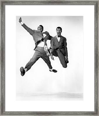 Jumping Jacks, Dean Martin, Jerry Framed Print by Everett