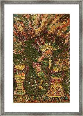 Jumpinjack Flash Kokopelli Framed Print by Anne-Elizabeth Whiteway