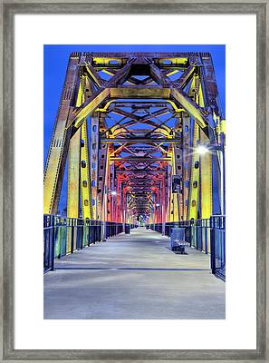 Junction Pedestrian Bridge Framed Print by JC Findley