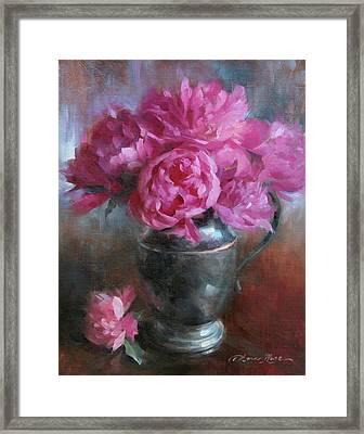 June Bouquet Framed Print by Anna Rose Bain