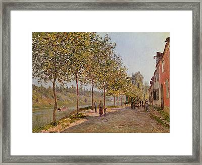June Morning In Saint Mammes Framed Print by Alfred Sisley