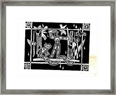 Jungle Codex Framed Print by Charles Snyder