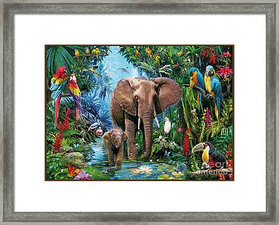 Jungle Framed Print by Jan Patrik Krasny