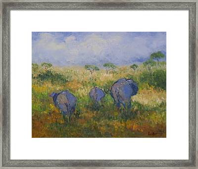 Jungle Walk Framed Print by Lore Rossi