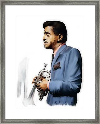 Junior Cool  Sammy Davis, Jr.  Framed Print by Iconic Images Art Gallery David Pucciarelli