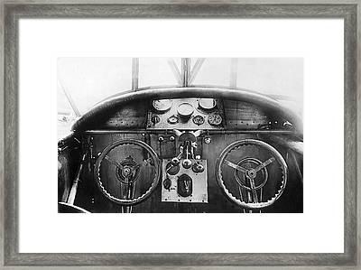 Junker Plane Cockpit Framed Print by Underwood Archives
