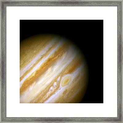 Jupiter And The Great Red Spot Framed Print by The  Vault - Jennifer Rondinelli Reilly