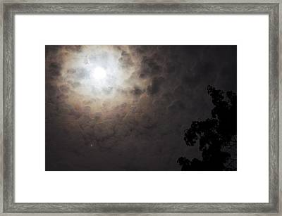 Jupiter And The Moon Framed Print by Don Youngclaus
