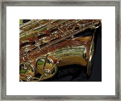 Jupiter Saxophone Framed Print by Michelle Calkins