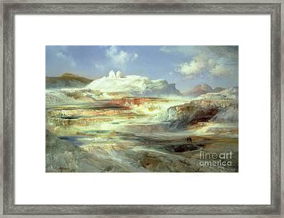 Jupiter Terrace Framed Print by Thomas Moran