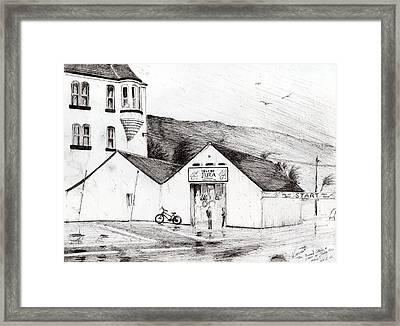 Jura Race Start Whiskey Distillery Framed Print by Vincent Alexander Booth