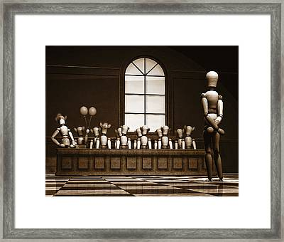 Jury Of Your Peers Framed Print by Bob Orsillo