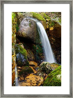 Just A Very Small Waterfall II Framed Print by Marco Oliveira