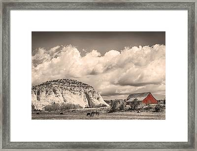 Just An Old Western Landscape Framed Print by James BO  Insogna