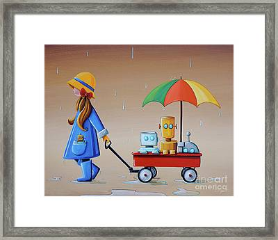 Just Another Rainy Day Framed Print by Cindy Thornton