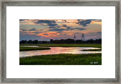 Just Another Ravenel Sunset Framed Print by Walt Baker