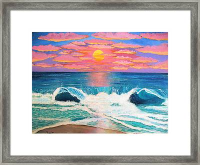 Just Another Red Sky Day Framed Print by Just Joszie