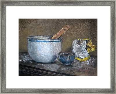 Just Enough Flour Framed Print by DK Richardson