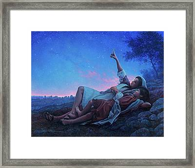 Just For A Moment Framed Print by Greg Olsen