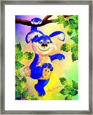 Just Hanging Around Framed Print by Hanne Lore Koehler