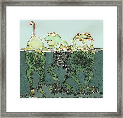 Just Hanging Framed Print by Peggy Wilson