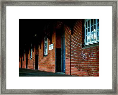Just Holes In The Wall Framed Print by Odd Jeppesen