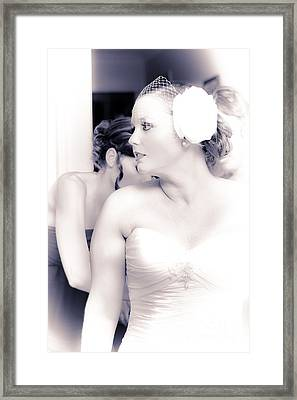 Just Moments Before Walking Down The Aisle Framed Print by Jorgo Photography - Wall Art Gallery
