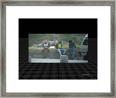 Just People Framed Print by James Puckett