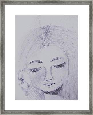 Just Thinking Framed Print by Trilby Cole
