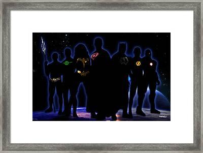 Justice League Framed Print by PedrazArt Digital Designs
