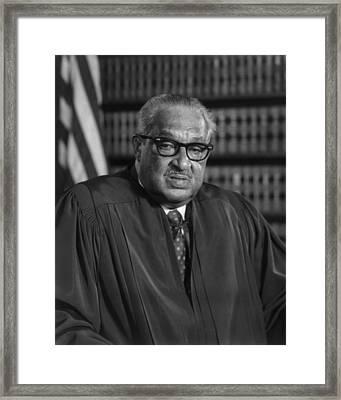 Justice Thurgood Marshall 1908-1993 Framed Print by Everett