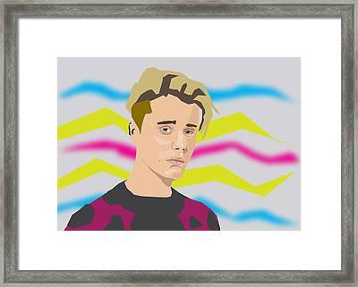Justin Bieber 2016 Framed Print by Michael Chatman