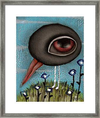 Justin The Crow Framed Print by  Abril Andrade Griffith