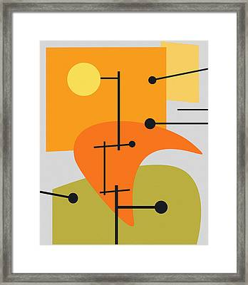 Juxtaposing Thoughts Framed Print by Richard Rizzo