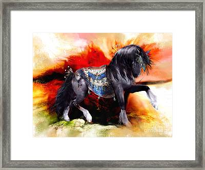 Kachina Hopi Spirit Horse  Framed Print by Shanina Conway