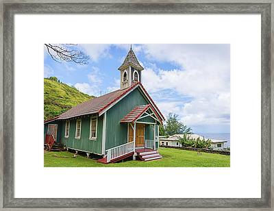 Kahakuloa Congregational Church Framed Print by Jim Thompson