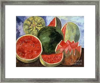 Kahlo: Viva La Vida, 1954 Framed Print by Granger