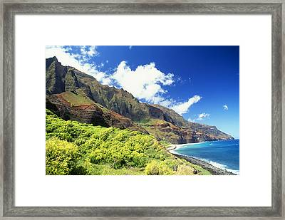 Kalalau, Secluded Beach Framed Print by Peter French - Printscapes