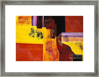 Kaleidoscope An Acrylic Painting Of Geometrical Shapes Framed Print by Phil Albone