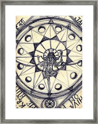 Kali Dancing #1 Framed Print by Stephen Carver