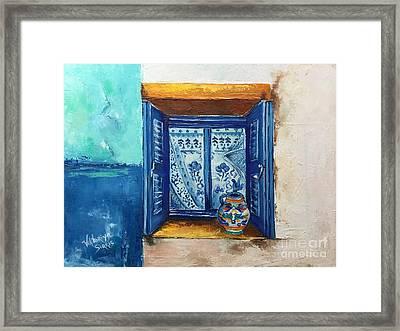 Kalimera Greece Framed Print by Viktoriya Sirris