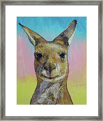 Kangaroo Framed Print by Michael Creese