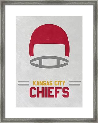 Kansas City Chiefs Vintage Art Framed Print by Joe Hamilton