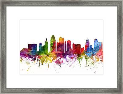 Kansas City Cityscape 06 Framed Print by Aged Pixel